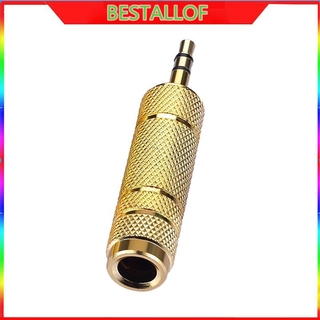 """Portable 3.5mm 1/8"""" Male to 6.35mm 1/4"""" Female Audio Adapter for Mic Headphone AUX Cable Stereo Jack Converter BEST"""