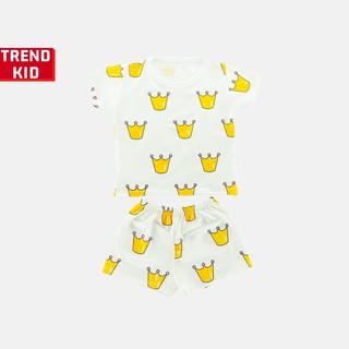 [Mã TREND20 giảm 15% đơn 99K] Bộ quần áo bé trai bé gái chất liệu 100% cotton hình Vương miện michley
