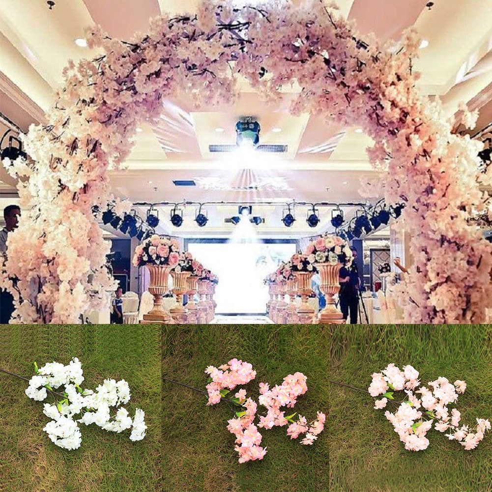 4 Branch Home Decorative Wedding DIY Cherry Blossom Gift Party Artificial Flower