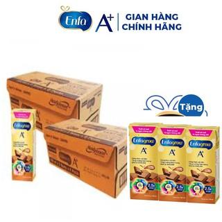 Combo 2 Thùng thực phẩm bổ sung: Enfagrow A 360 Brain DHA hương Socola 180ml, Lốc 3 hộp – Mới (16 lốc)