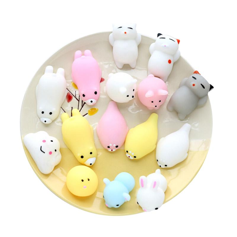 @TL*Cute Mochi Squishy Cat Squeeze Healing Fun Kids Kawaii Toy Stress Reliever