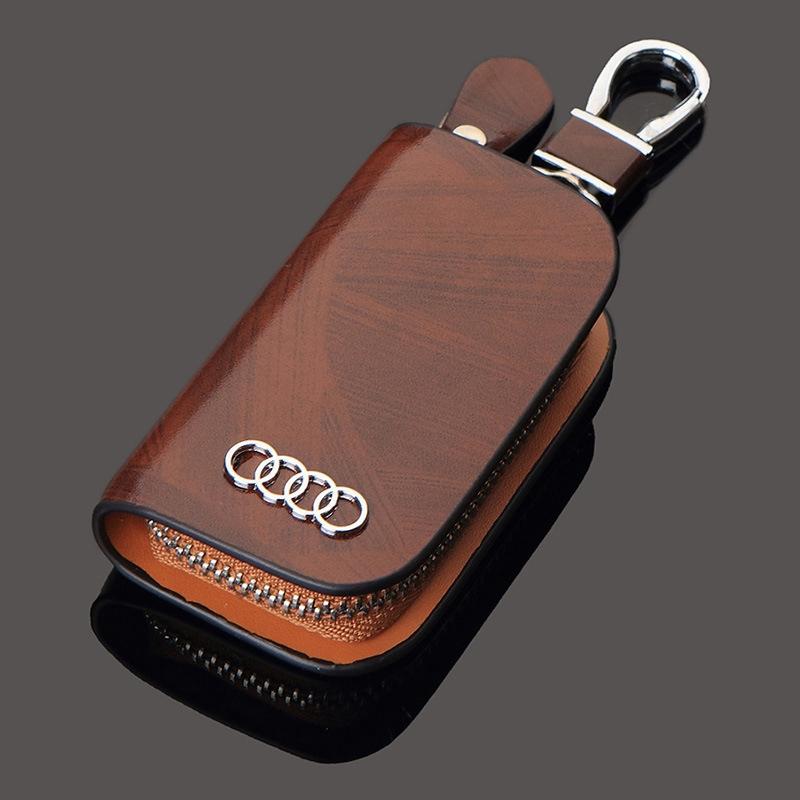 bao da bảo vệ chìa khóa thông minh cho xe hơi audi a3 a4 la6 la8 lq3 q5 q7 ttrs smart