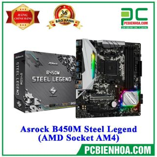 Bo mạch chủ Asrock B450M Steel Legend (AMD Socket AM4) chính hãng thumbnail
