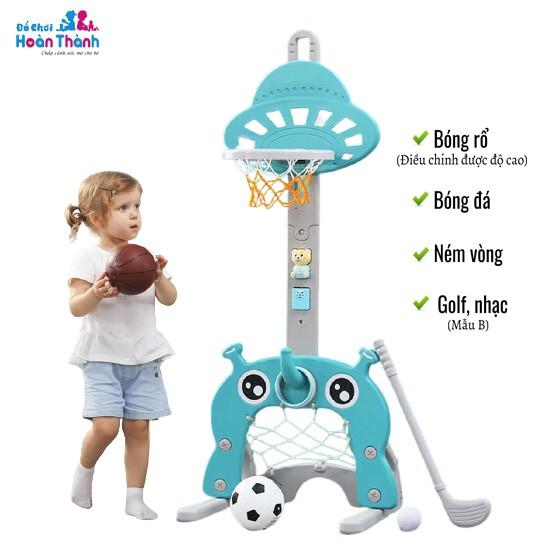 [Mã SKAMPUSHA8 giảm 8% đơn 300K] Đồ chơi bóng rổ trẻ em có thể nâng lên hạ xuống cho bé từ 1 đến 6 tuổi