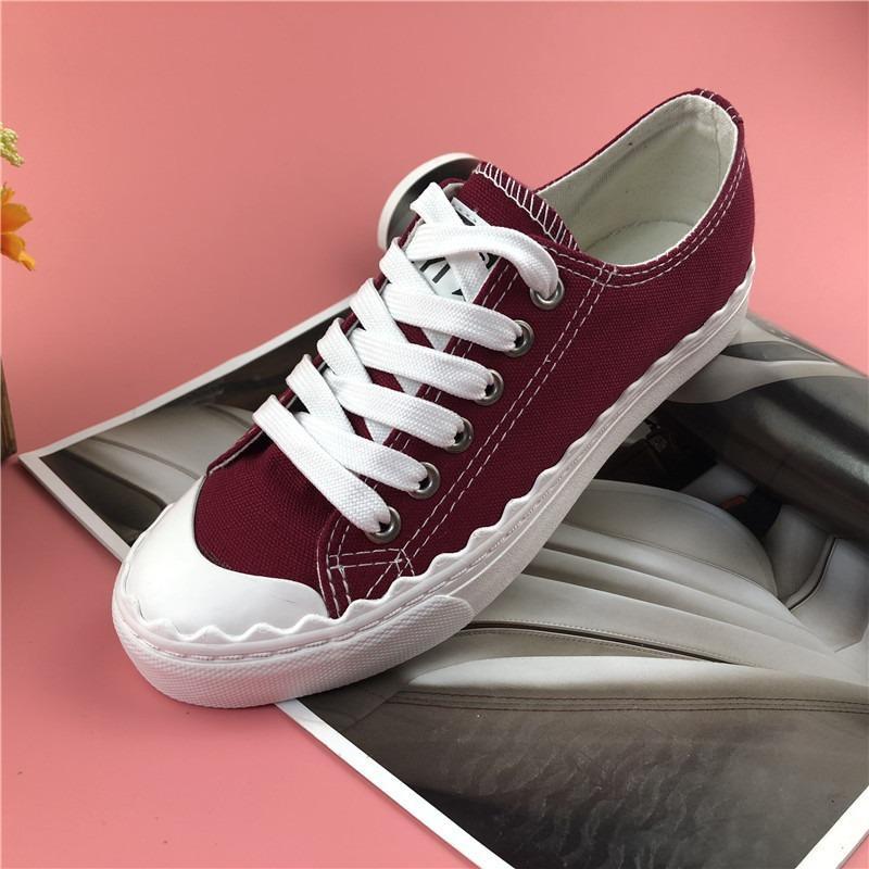 3233 Giày sneaker nữ vải tổng hợp dày dặn