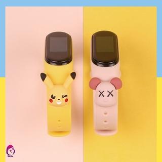 Dây Đồng Hồ Bằng Cao Su Thay Thế Hình Disney Mickey Pikachu Cho Xiaomi Miband 3 Miband 4 Chất Lượng Cao