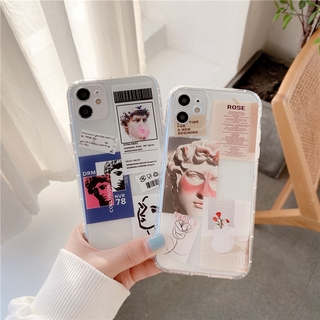 Ốp Điện Thoại Trong Suốt Cho Iphone 12 / Pro / Max / Mini / 11 / Xs Max / Xr / X / I7 / 7p / 8 / 8 Plus