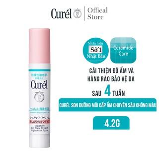 Son Dưỡng Môi Cấp Ẩm Chuyên Sâu Curel Intensive Moisture Care Moisture Lip Care Cream Light Pink - Hồng Nhẹ 4.2g thumbnail