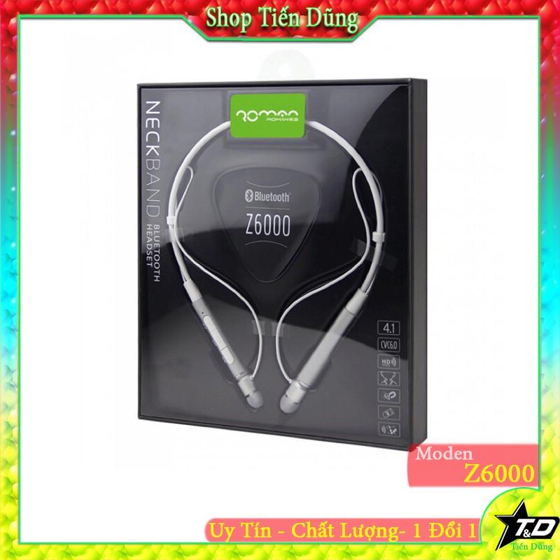 Tai nghe bluetooth Roman Z6000 dòng dòng thể thao kiểu dáng quàng cổ chật lượng âm thanh tốt