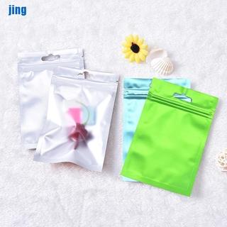 [jing] 1 multicolor flat aluminum foil bag storage bag ziplock bag [vn]