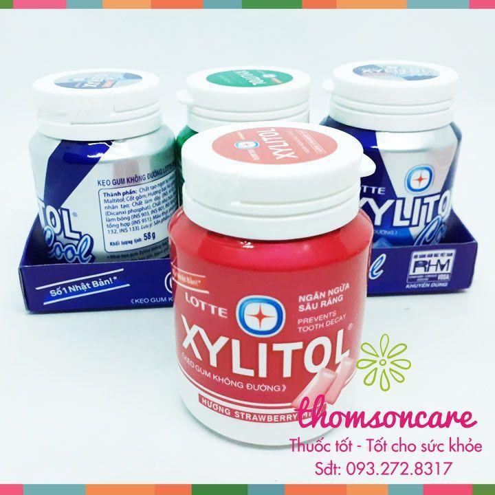 Kẹo Gum không đường Xylitol - Giúp ngừa sâu răng - Cho hơi thở thơm mát - Chính hãng.