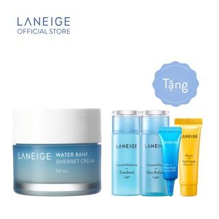 Kem dưỡng da giàu độ ẩm LANEIGE Water Bank Sherbet Cream 50ml Tặng Bộ cân bằng và chăm sóc da LANEIGE
