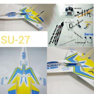 Máy bay Su-27 điều khiển từ xa ( Microzone 7 ) shop sẽ hướng dẫn ráp và tập bay nếu khách cần