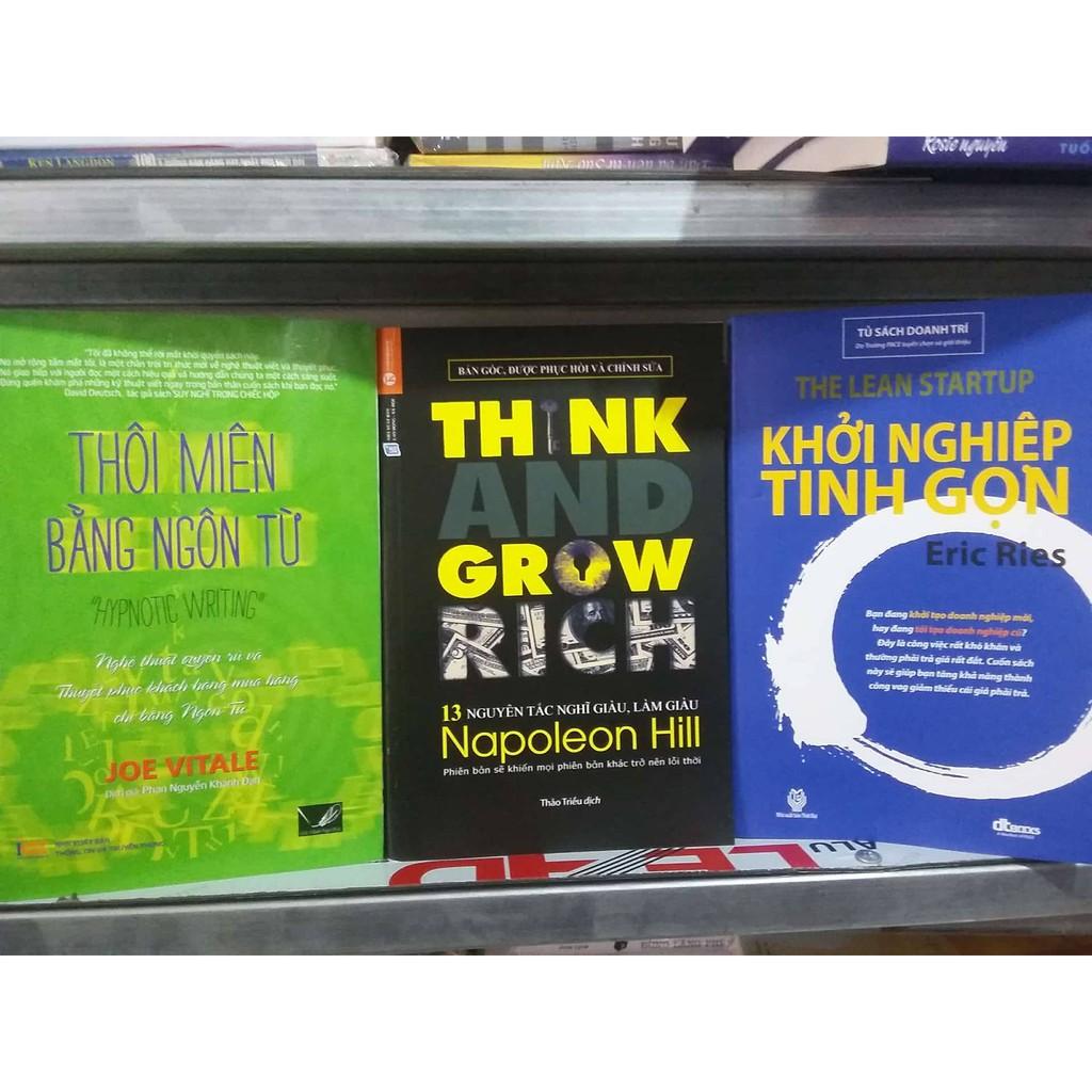 Sách - Combo 3 Cuốn: Thôi Miên + Think And Grow Rich + Khởi Nghiệp