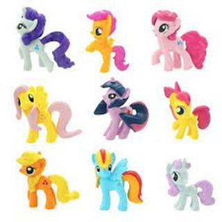Sét 12 ngựa Pony loại lớn 7cm