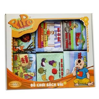 Bộ quà tặng 6 cuốn sách vải Pipo