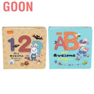 Goon Infant Cute Cartoon Pattern Number/Letter Learning Wear-Resistant Early Educational Book