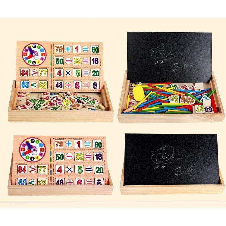 Bảng gỗ 2 mặt dạy bé học toán - SIÊU CHẤT LƯỢNG