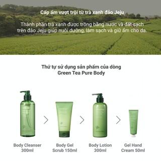 Tẩy tế bào da chết toàn thân hương trà xanh innisfree Green Tea Pure Body Scrub 150ml-3