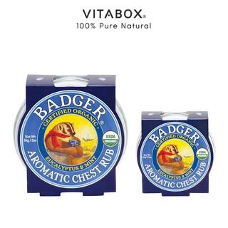 Sáp dầu hữu cơ bôi ấm ngực và cổ BADGER Aromatic Chest Rub - phòng ngừa cảm cúm giảm ho nghẹt mũi - USDA Organic