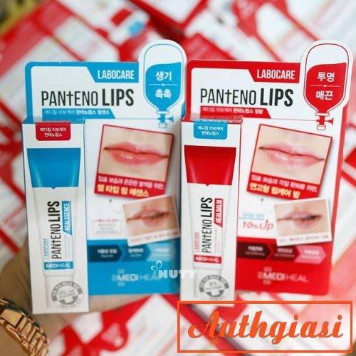 Son dưỡng trị thâm môi Mediheal Labocare Panteno Lips Labo Care xanh và đỏ
