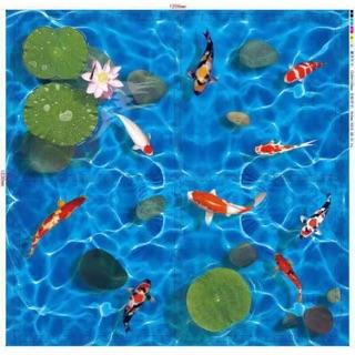 Bộ Thảm Xốp 3D Hình Cá & Ao Sen KT 60×60