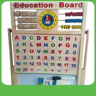 [HOT DEAL] Bảng từ 2 mặt education Board và bộ số kèm bảng gỗ có núm phương tiện | Hàng Bán Chạy