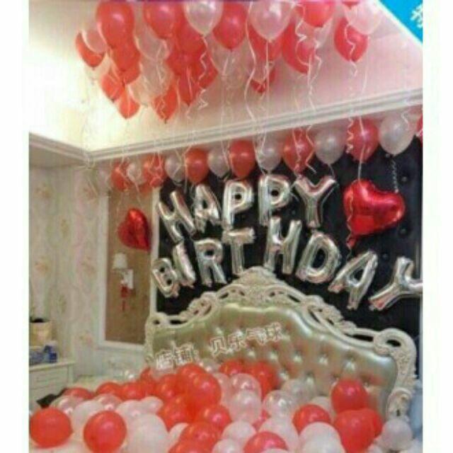 Bong bóng sinh nhật set happybirthday y hình