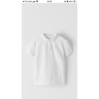Áo polo trắng ngắn tay, sz từ 6y đến 8y, Za.r@ UK săn SALE
