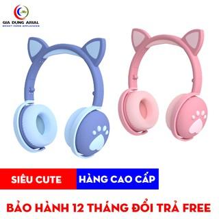 Tai Nghe Bluetooth Tai Mèo TNM-03 Tai Nghe Chụp Tai Mèo Cục Kute Bảo Hành Chính Hãng