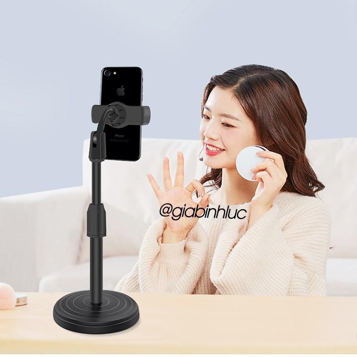 Giá đỡ điện thoại để bàn đa năng xoay 360 độ điểu chỉnh trên dưới hỗ trợ livestream xem phim, quay video ,học bài online