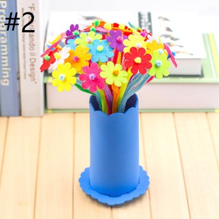 🍍SALE🍍Handmade potted colorful flowers children DIY puzzle creative gift