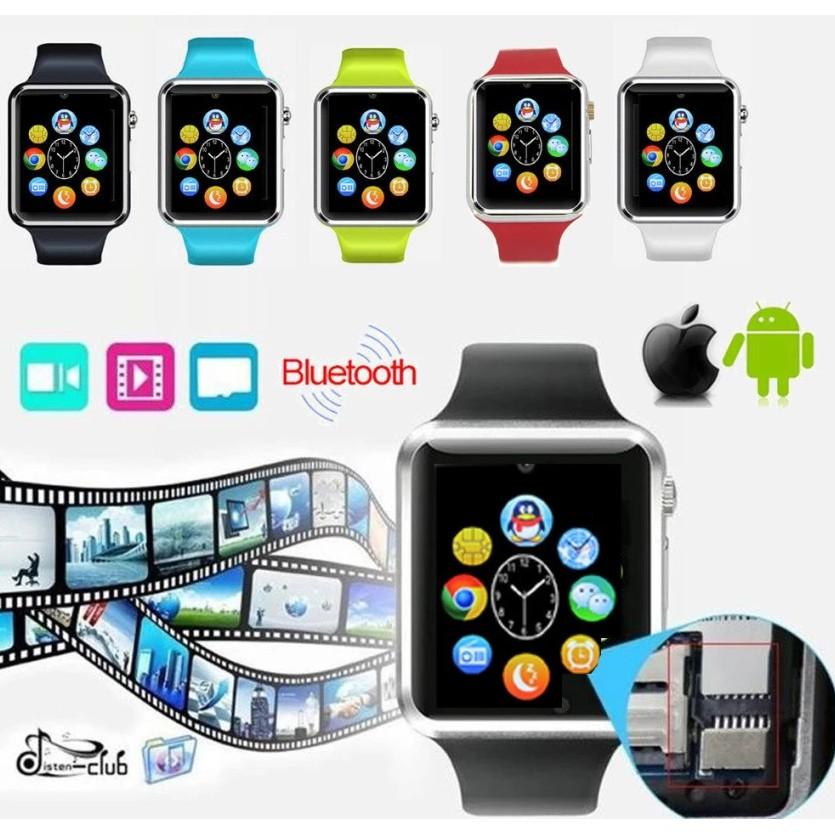 Đồng hồ thông minh A1 Đen bạc - hồng - đỏ - trắng - xanh lá - xanh dương