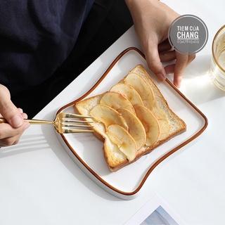 Đĩa sứ Decor hình sanwith đĩa bánh mỳ dễ thương, order 3 tuần