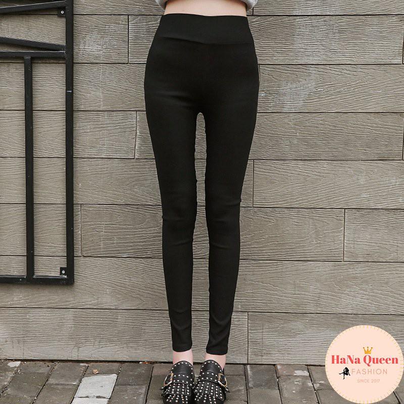 [Sẵn Hàng] Quần legging nữ co giãn dáng basic dễ mặc