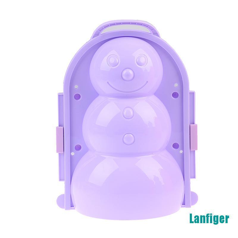 【Lanfiger】Outdoor Winter Snowman model Snowball Maker Snowman Maker Clip Toy for Children