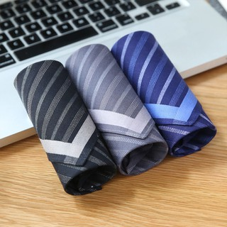 Classic Stripe Men 43cmX43cm Pocket Square Handkerchief Cotton