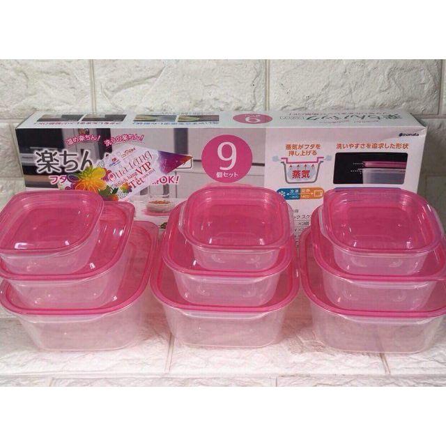 Bộ hộp nhựa 9 món của Nhật đựng đồ thực phẩm an toàn - 3509068 , 977554345 , 322_977554345 , 150000 , Bo-hop-nhua-9-mon-cua-Nhat-dung-do-thuc-pham-an-toan-322_977554345 , shopee.vn , Bộ hộp nhựa 9 món của Nhật đựng đồ thực phẩm an toàn
