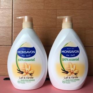 (1000ml ) Sữa tắm dưỡng ẩm trắng da Monsavon hương vani