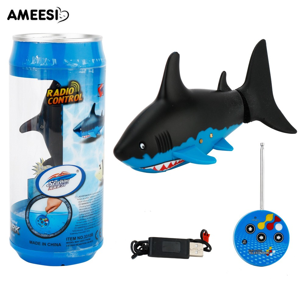 🔅🔆AMEESI  Rechargeable Remote Control Shark Fish Swim in Toys Gifts