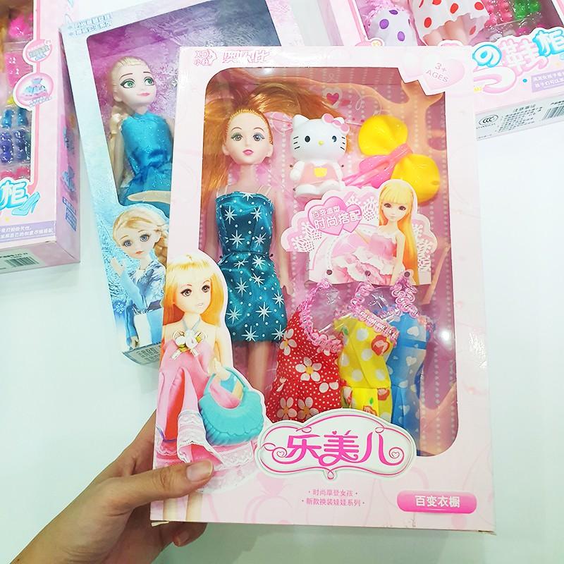 Đồ chơi búp bê, Búp bê công chúa Elsa,Bộ sưu tập giầy cho búp bê, Búp bê cho bé gái, búp bê Hello Kitty