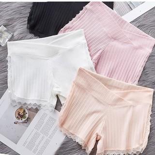 Quần Đùi Bầu Quần Bầu Mặc Váy Cạp Chéo Chất Liệu Thun Tăm Thoáng Mát - Nâng Đỡ Bụng - Chống Rạn Da thumbnail
