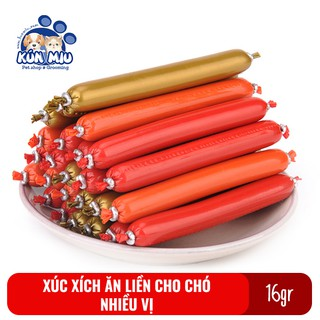Xúc xích ăn liền cho chó mèo, hamster hương vị thơm ngon bổ dưỡng 16gr thumbnail