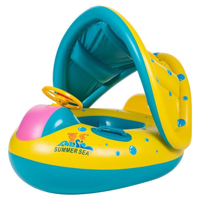 Phao bơi xỏ chân có mái che nắng mưa cho bé