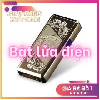 Bật - Lửa- Điện Sạc USB cao cấp màu vàng nguyên khối EAGLE93 FULLBOX