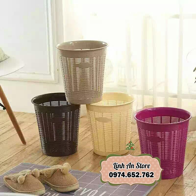 Thùng đựng rác tròn / Sọt rác nhựa văn phòng - 13861130 , 2307089957 , 322_2307089957 , 100000 , Thung-dung-rac-tron--Sot-rac-nhua-van-phong-322_2307089957 , shopee.vn , Thùng đựng rác tròn / Sọt rác nhựa văn phòng