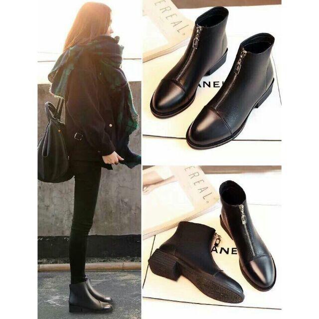 Bốt da nữ cao cổ boots kéo khóa đế 3 tôn dáng ôm chân màu đen dành cho nữ - 15362959 , 1611070433 , 322_1611070433 , 310000 , Bot-da-nu-cao-co-boots-keo-khoa-de-3-ton-dang-om-chan-mau-den-danh-cho-nu-322_1611070433 , shopee.vn , Bốt da nữ cao cổ boots kéo khóa đế 3 tôn dáng ôm chân màu đen dành cho nữ