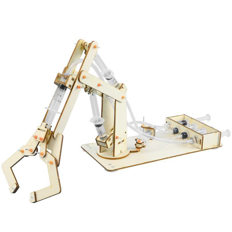【happylife】Science and technology small production gadgets, junior high school students, wooden hydraulic manipulators, youth makers, stem science toys