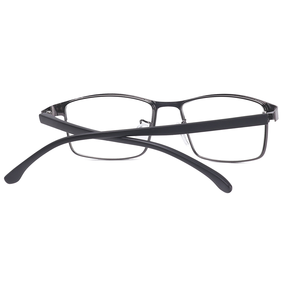 XIANSTORE Square Eye Glasses Frames for Men Fashion Prescription Glasses Business Eyeglasses Flat Mirror Classic Vision Care Eyewear Vintage Anti...