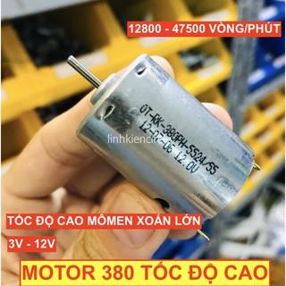Motor 380 3V – 12V mã RK-380PH-5524 tốc độ cao 47500 RPM dùng pin mômen xoắn lớn chế khoan làm xe thuyền RC – LK0160